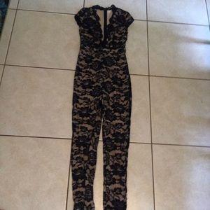 Floral lace design jumpsuit